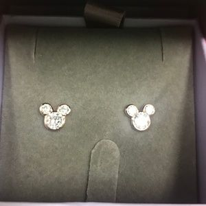 Disney Rose Gold-plated Mickey Mouse Earrings
